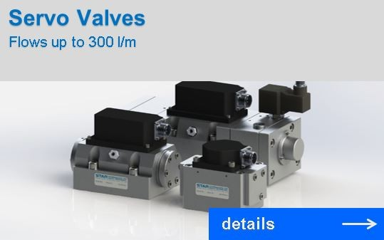 Servo Valves with flows up to 300 l/m