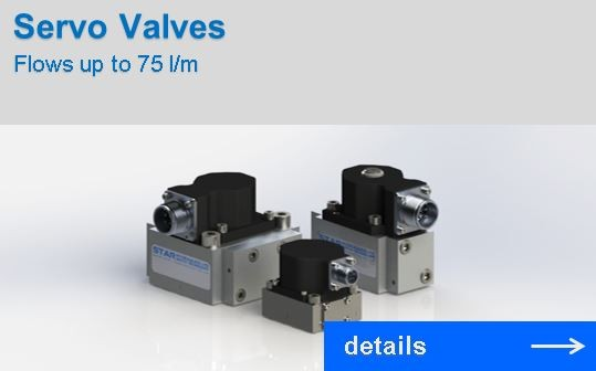 Servo Valves with flows up to 75 l/m